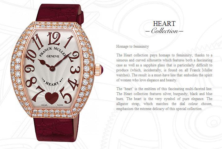 Franck Muller Heart replica watch