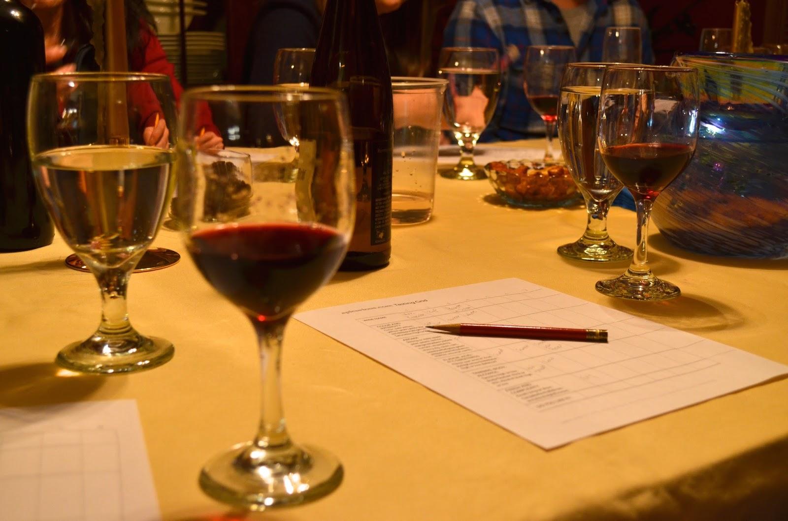 Wine Tasting Table Setting