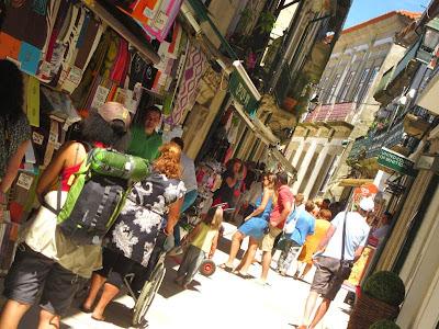Shopping street in Valença do Minho