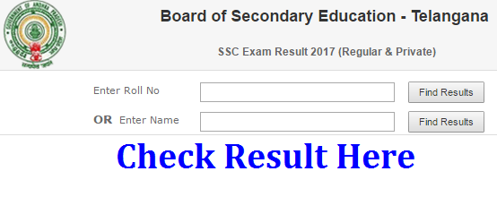 TS 10th Results 2017