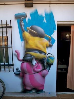 Monkeys, Roller, Urban, Street Art,