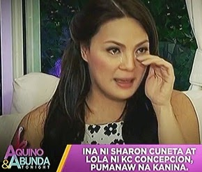 SHARON  CUNETA'S  MOM,  DIES!