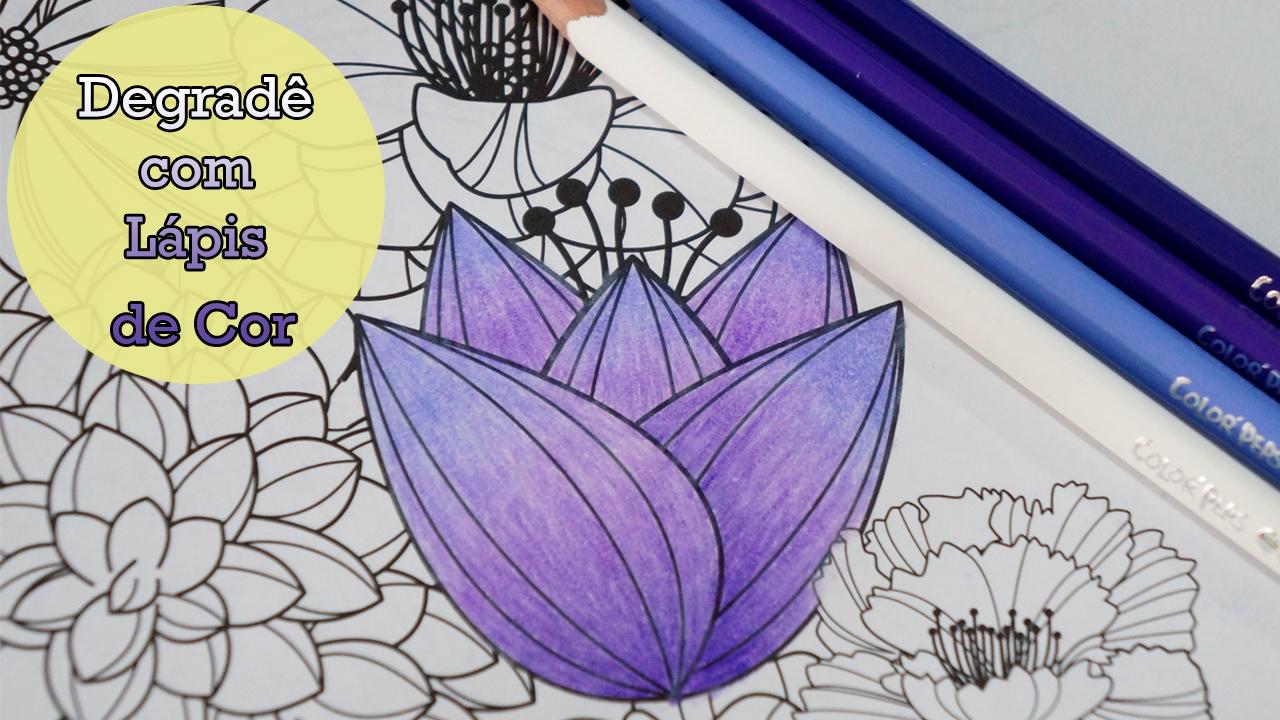 flores jardim secreto: com Lápis de Cor