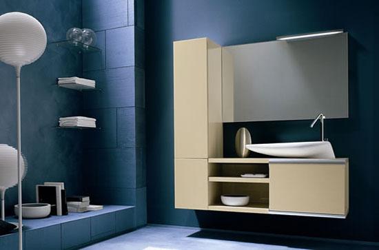diseo moderno cuarto de bao rojo oscuro con espejo naike modelo armarios de pared con puertas correderas de aluminio de buena calidad z y shui lavabo - Diseo De Cuartos De Bao