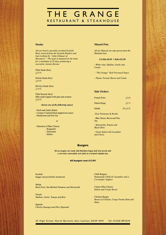 Food technology restaurant menus for design inspiration