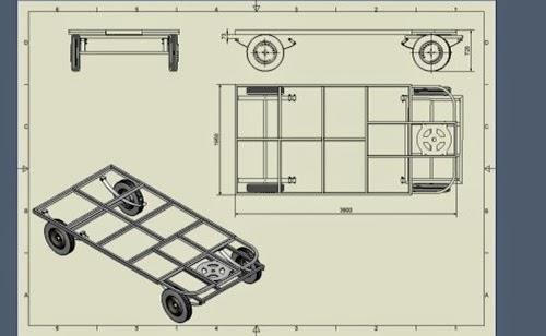 Oasis ambulant construction du chassis de la roulotte - Plan roulotte gitane gratuit ...
