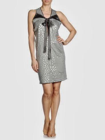 parlak taşlı gri elbise