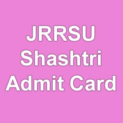 JRRSU Exam ADmit Card 2015