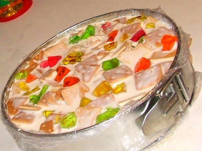 Торт желейный битое стекло рецепт