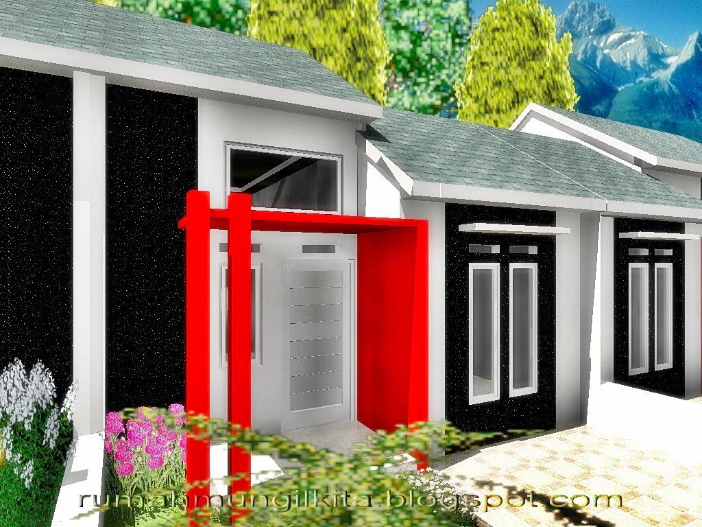 Desain Rumah Minimalis Tipe 30 Tanah 72 m2 - Tampak Samping