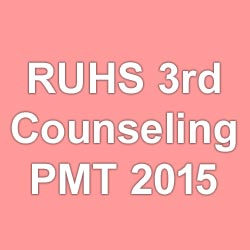 Medical Counseling for BDS Admission in RUHS 2015