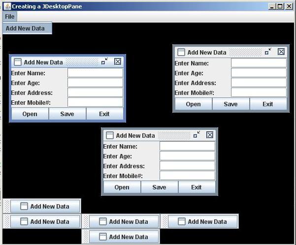 sample program code for java