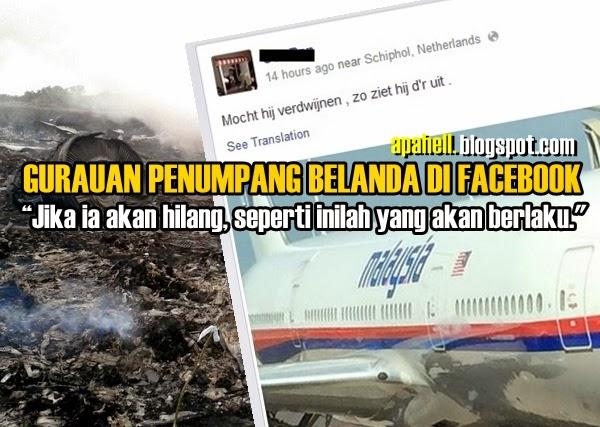 """MH17 : Gurauan Penumpang Belanda """" Ia Bakal Hilang"""""""