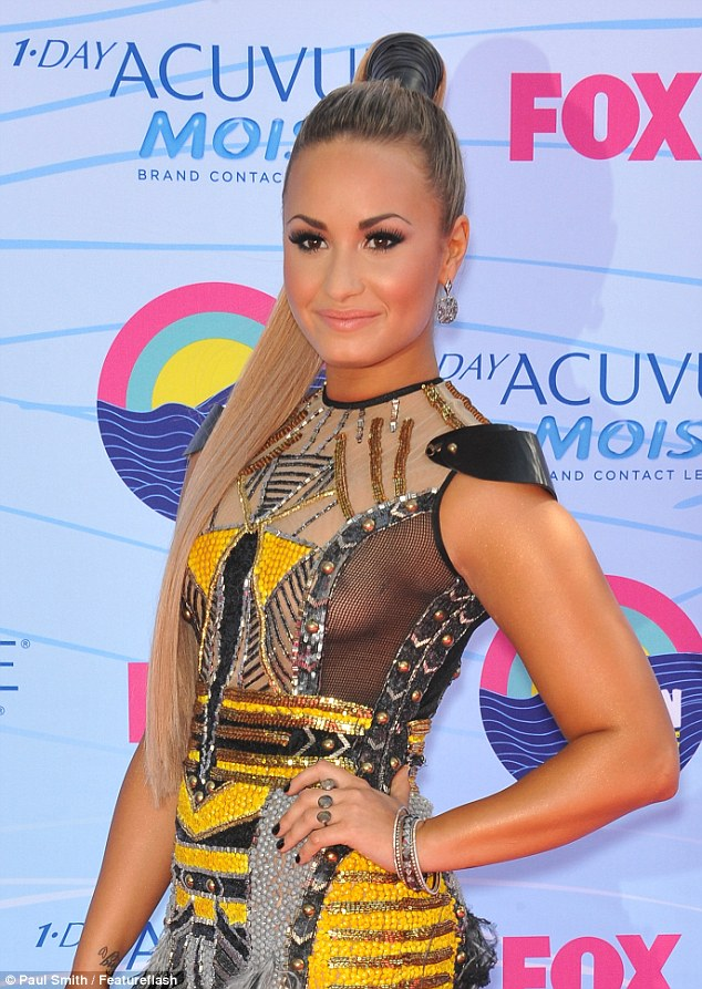 This outfit was one of three that Demi Lovato wore as host of the 2012 Teen ...