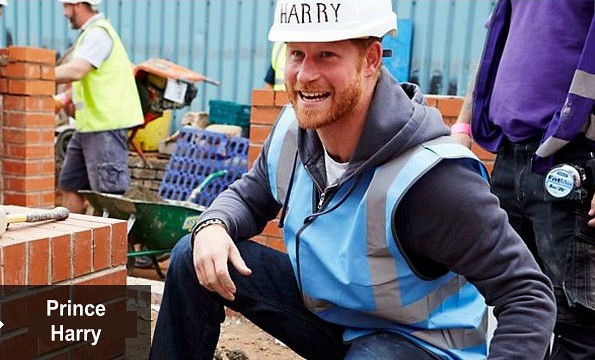Prince's William And Harry At DIY SOS, Homes For Veterans Programme