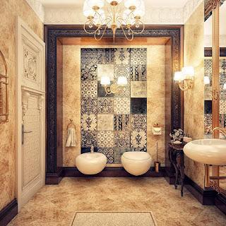 ديكورات حمامات كلاسيكيه فخمه