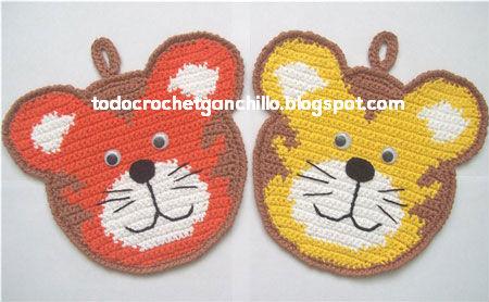 2 agarraderas   2 puntillas para tu cocina / patrones crochet ...