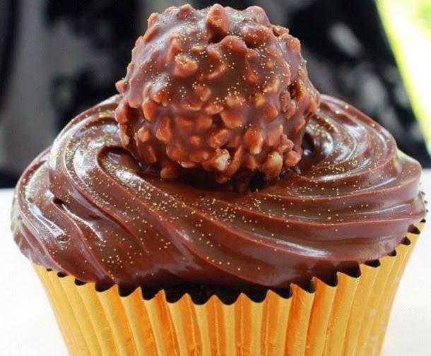 Receita de cupcake de Nutella com Ferrero Rocher