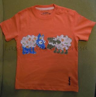 Camiseta Lobo y Oveja de patchwork para Oihan