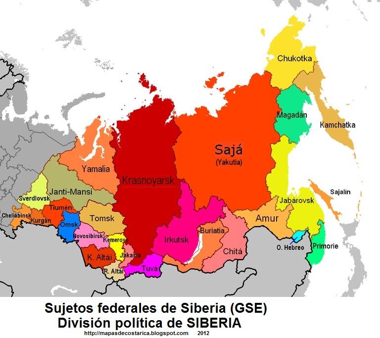 ASIA DEL NORTE  MAPAS DE
