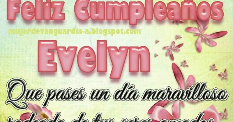 Tarjeta de Feliz cumpleaños Evelyn | Imágenes con frases