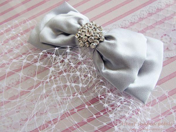 birdcage veil with bow