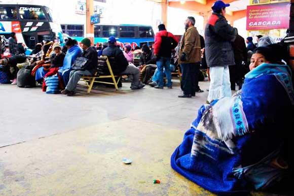 Se congeló la ruta a Bermejo, tránsito suspendió las viajes