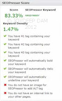 SEO score by SEOPressor Wordpress Plugin
