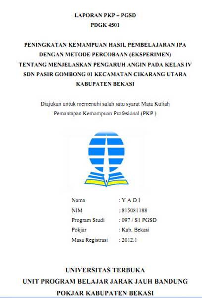 contoh format laporan pembinaan perseorangan