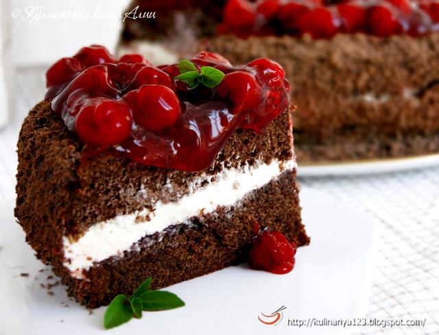 463 шоколадный торт с вишней
