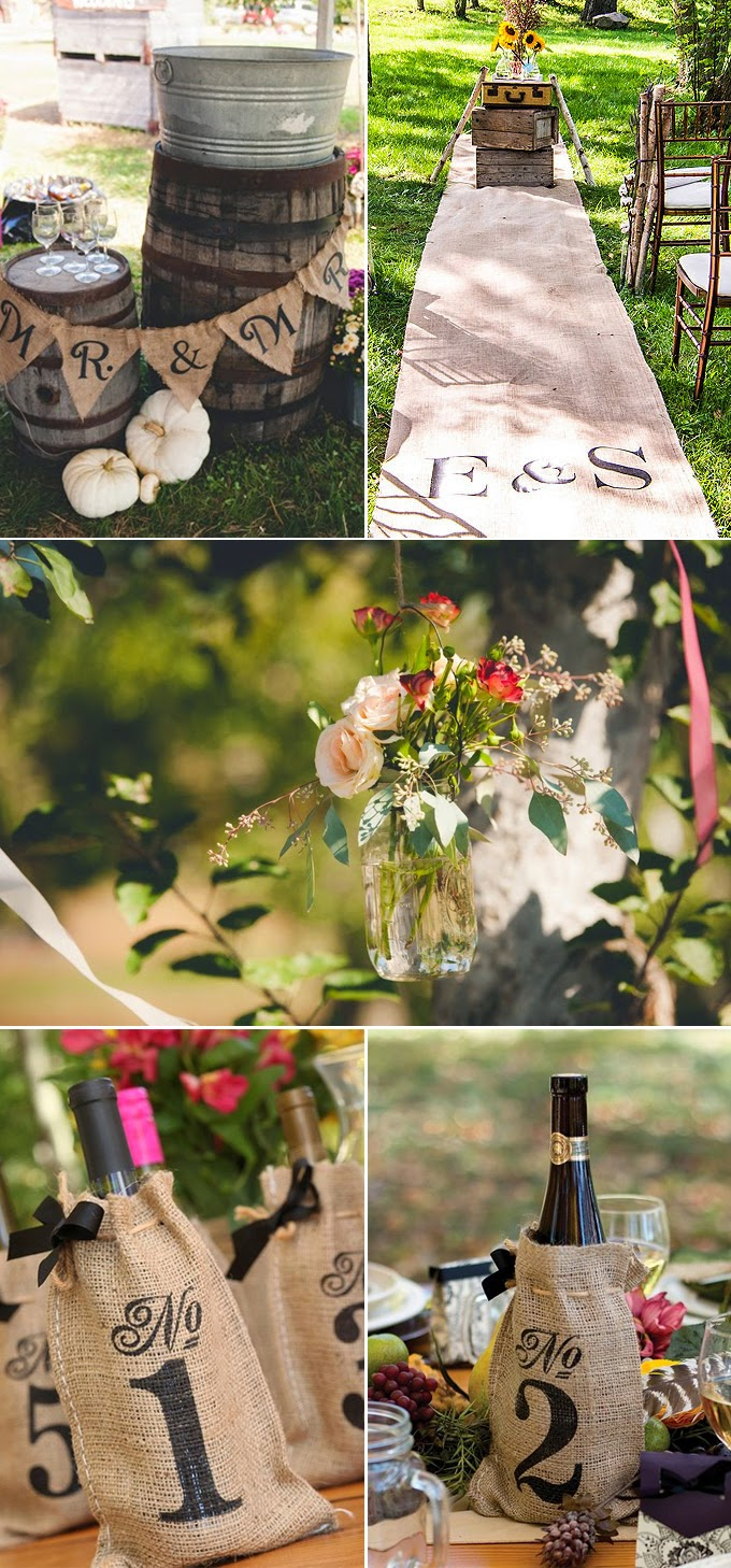 Burlap wedding decorations and ideas junglespirit Image collections