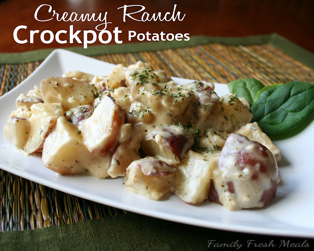 Creamy Ranch Crockpot Potatoes