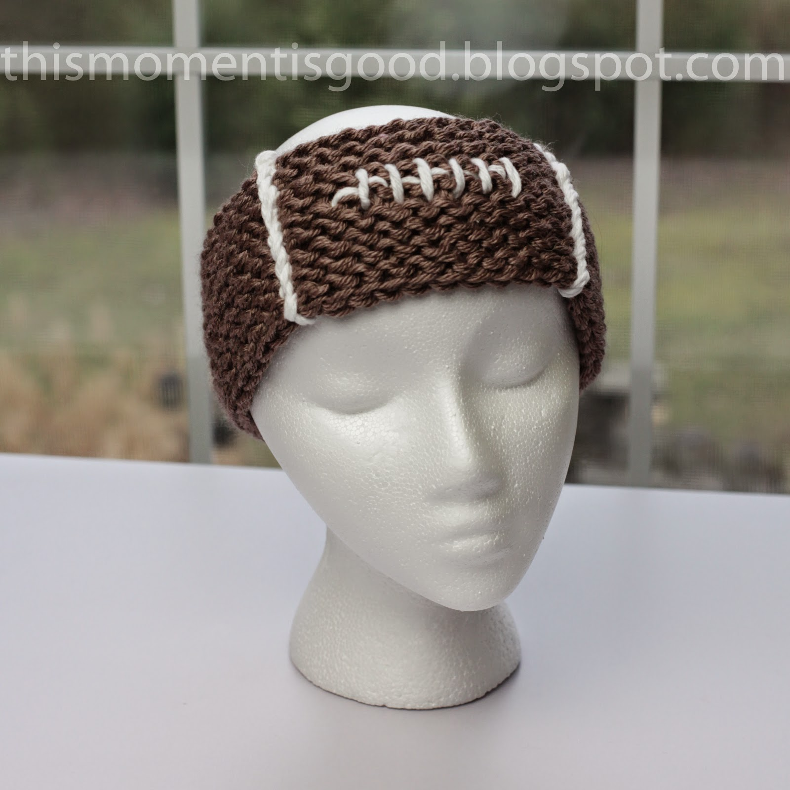 Loom Knitting Pattern Headband : Loom Knitting by This Moment is Good!: EASY LOOM KNIT FOOTBALL HEADBAND