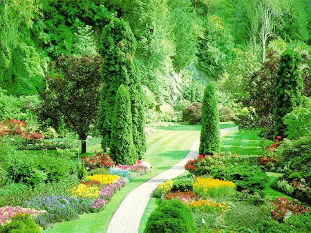 wallpaper taman yang cantik