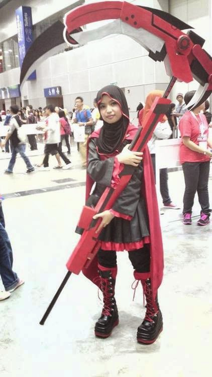 cosplay Ruby RWBY versi hijab