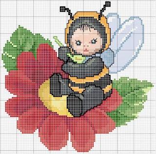 Imagens para bordado de abelhinhas
