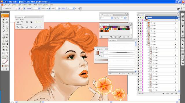 Art Li and Stuff - Tangerine Lady ~ Almost done?