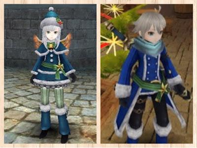 サンタ衣装 紺色1、青1