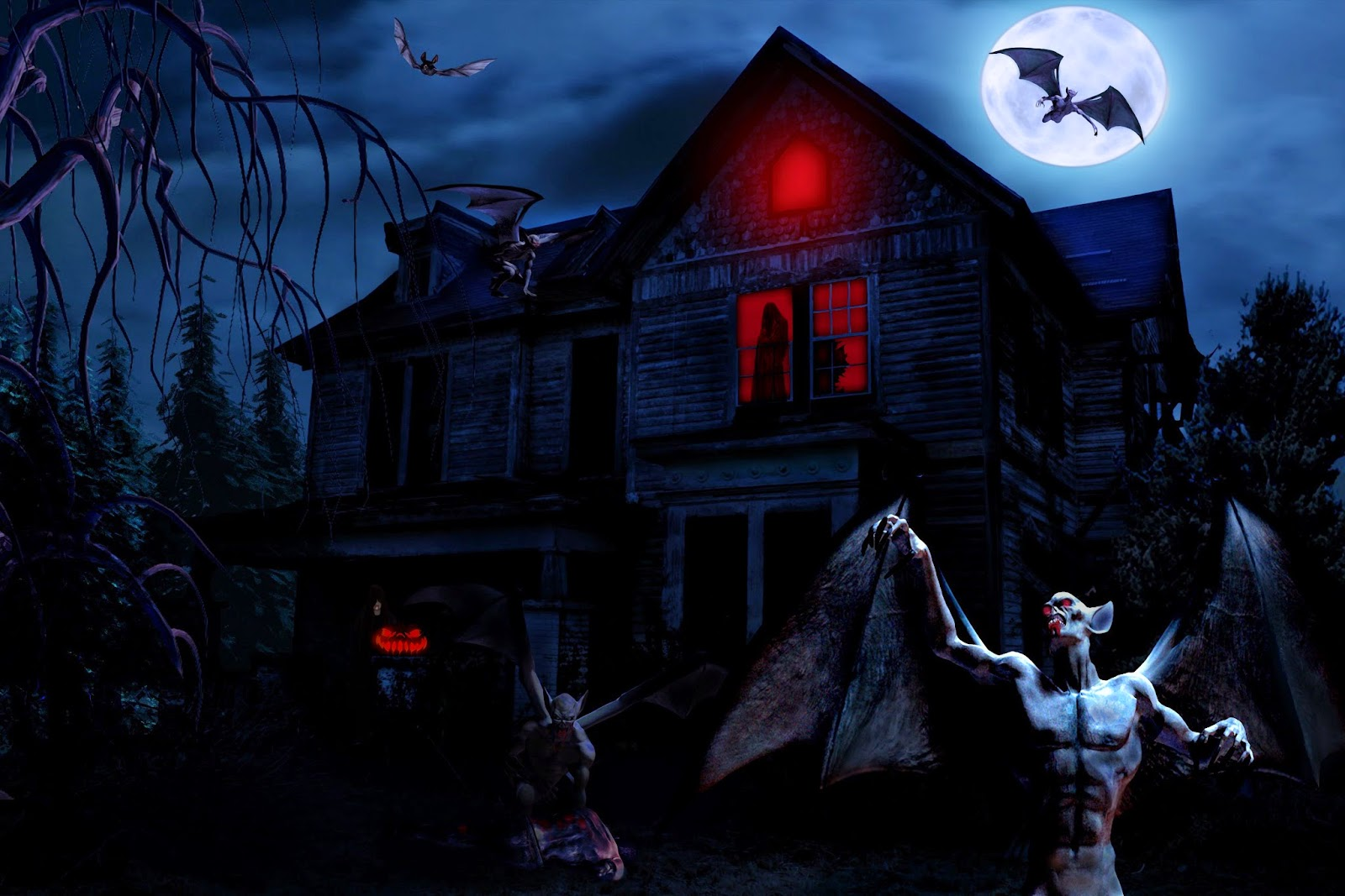 Haunted-dark-house-evil-ghost--full-moon-bat-images-for-halloween-HD-photos.jpg