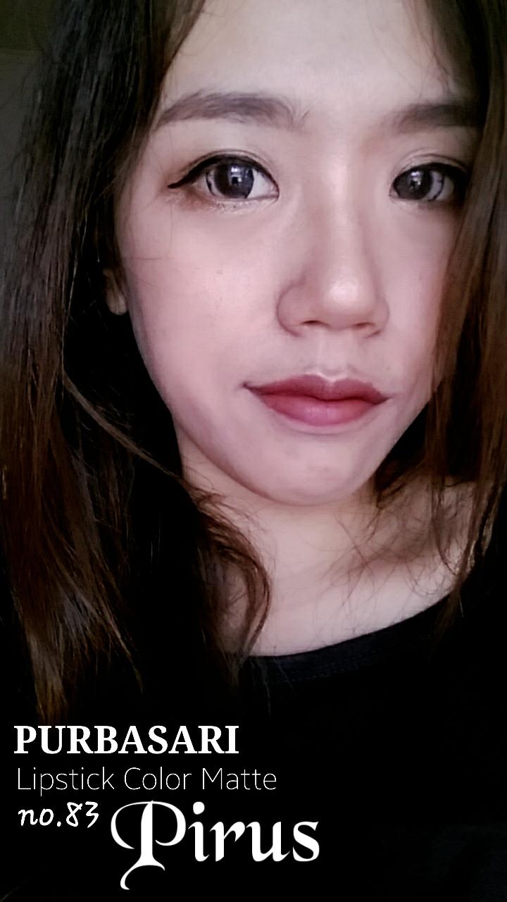 Lipstick matte purbasari warna merah bata