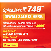 SpiceJet Diwali Sale Offer : Flights all inclusive from Rs. 749 : Buytoearn