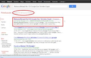 trik terindex cepat dalam hitungan menit di google