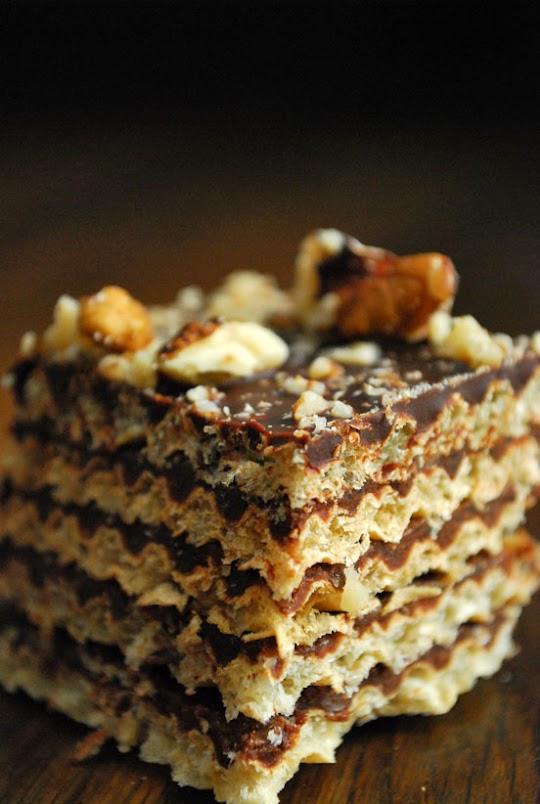 Pischinger czekoladowy z orzechami włoskimi