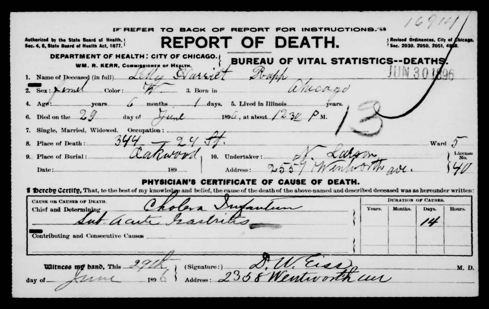 It\'s All Relative: A Child Lost ~ Lillian Harriet Rapp