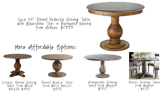 Luca Round Pedestal Table Cooper Round Dining Table Round Blanca