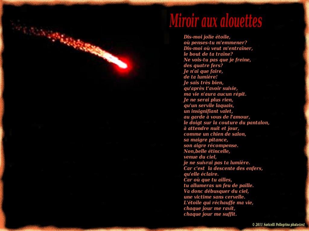 Tisseur de rimes novembre 2011 for Expression miroir aux alouettes