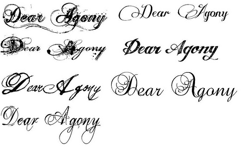 Tattoo fonts images styles ideas pictures popular tattoo Word font styles
