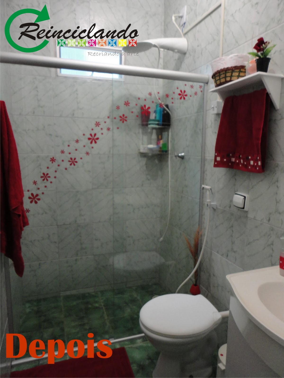 Reinciclando: O Antes e Depois de um banheiro com ape  #CA3201 1200x1600 Antes E Depois De Um Banheiro