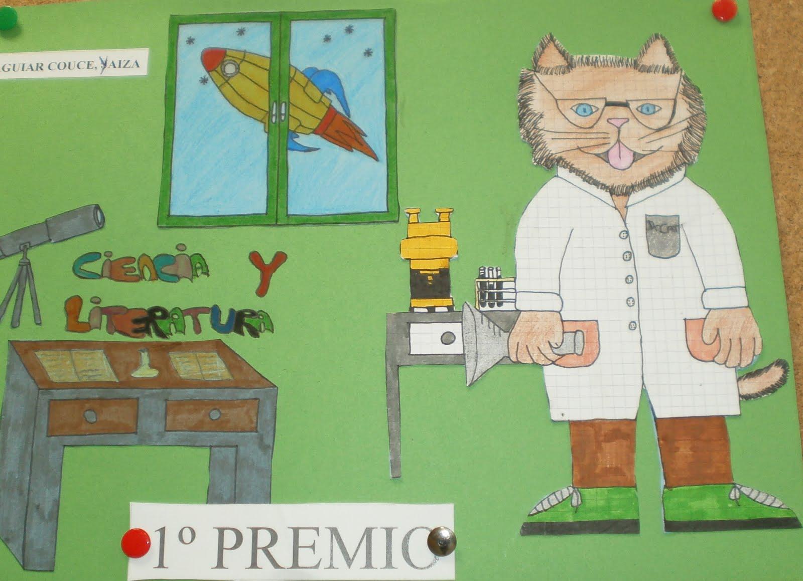 """A gata Cata no tema deste curso """"Ciencia e Literatura. Le, investiga, descobre"""""""""""
