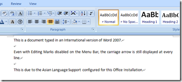 how to delete carriage returns in word